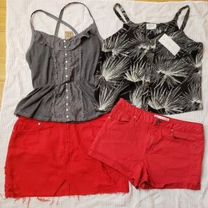Zara Hollister Tillys Mini summer capsule wardrobe